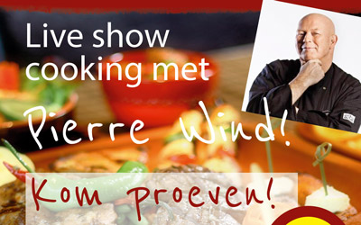 Vrijdag 29 april om 16:00 Live cooking met Pierre Wind!